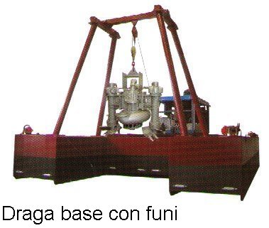 draga base con funi
